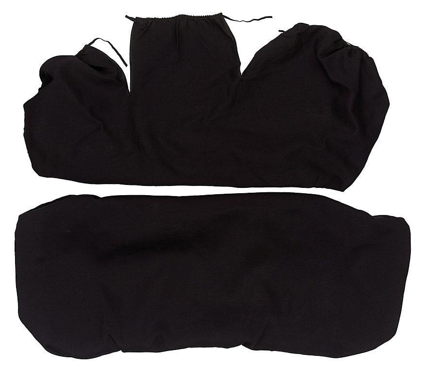 Чехлы на задние сидения Антей Маечка, без рисунка, цвет: черный. А0037/15А0037/15Чехлы на задние сидения Антей Маечка выполнены из триплированного материала. Триплированный материал-это трехслойный материал, верхним слоем которого является, как правило, ткань (хлопок). Вторым слоем служит поролон, который удерживает форму чехла. В качестве третьего слоя используется подкладочный материал. Таким образом, получается чехол, который не сминается, держит форму и не растягивается. Плюсом наших изделий является то, что они, в отличие от синтетических чехлов-маек, изготовлены из натурального материала - хлопка, который гораздо приятнее для человеческого тела.