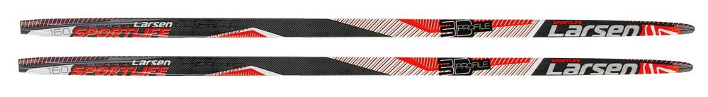 Лыжи Larsen Sport Life step 150. 338434338434-150Лыжи с насечкой. Материал: дерево, пластик. Геометрия: 45/45/45 мм. Скользящая поверхность: WAX. Вес: 1300 г/190 см