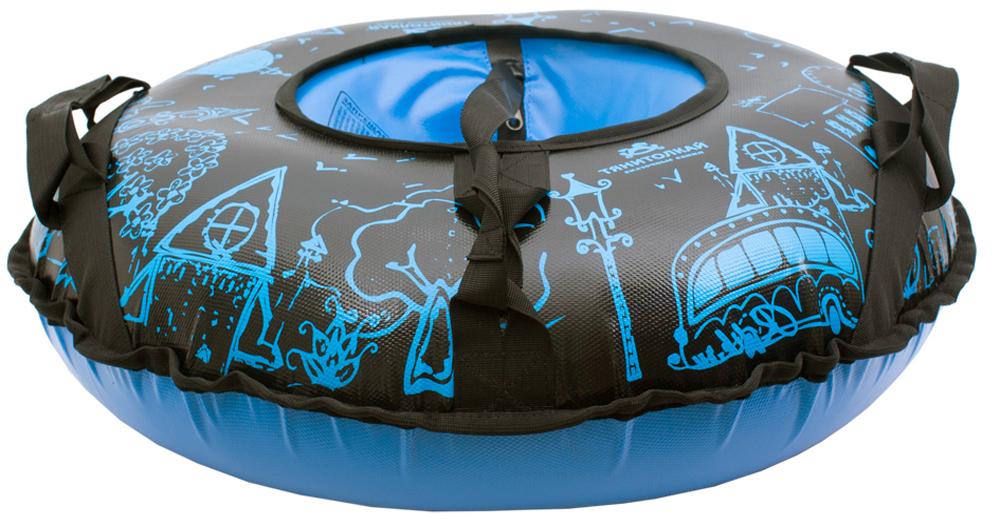 Санки надувные Город, цвет: синий, 65 см. 338485338485Материал верха: тент 650 г/м2 Материал низа: тент 650 г/м2 Размеры: 65 см