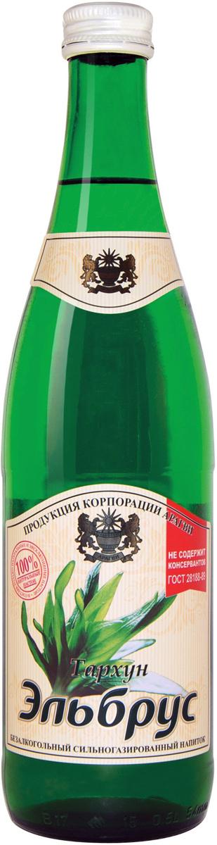Эльбрус Тархун напиток безалкогольный среднегазированный, 0,5 л 0014000000060
