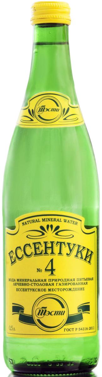 Ессентуки №4 вода минеральная природная лечебно-столовая 0,5 л (стекло)