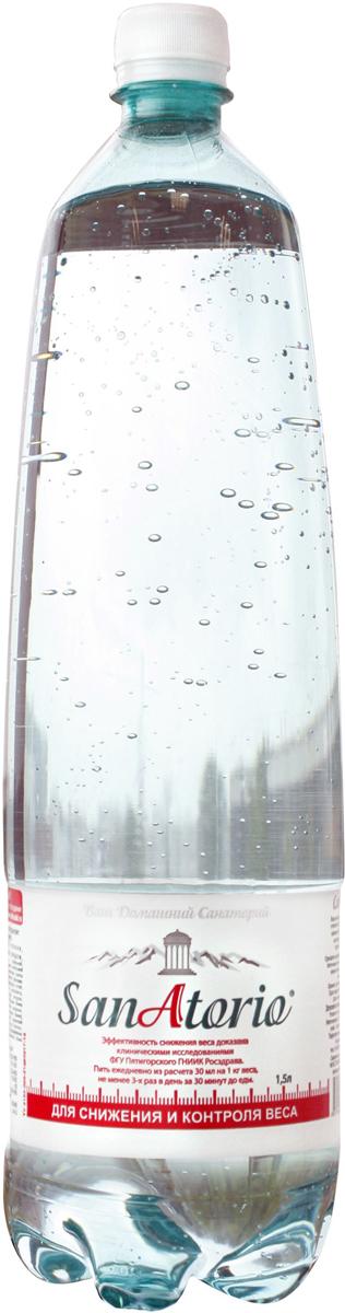 Санаторио вода минеральная питьевая лечебно-столовая газированная 1,5 л (ПЭТ)
