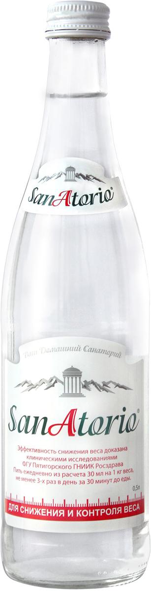 Санаторио вода минеральная питьевая лечебно-столовая газированная 0,5 л (стекло)