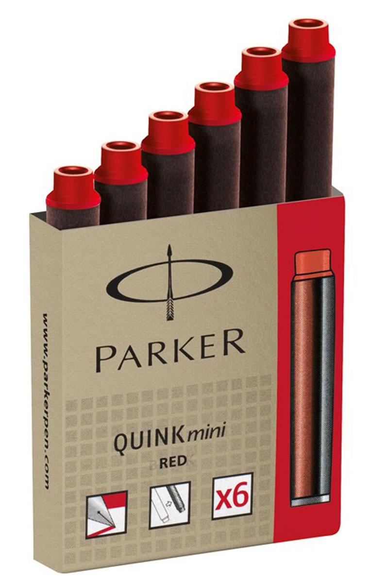 Parker Мини-картридж с чернилами Quink для перьевой ручки 6 штPARKER-S0767230Мини-картриджи с чернилами Quink предназначены для перьевых ручек Parker. Чернила красного цвета. В упаковке 6 картриджей. Изготовлено во Франции.