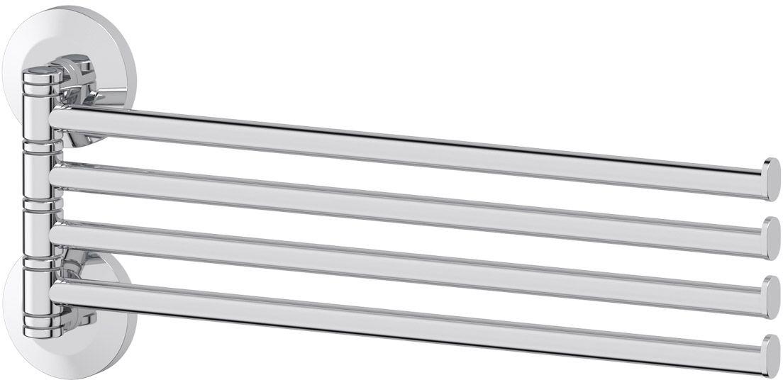 Держатель полотенец FBS Standard, поворотный, четверной 37 см, цвет: хром. STA 046STA 046Аксессуары торговой марки FBS производятся на заводе ELLUX Gluck s.r.o., имеющем 20-летний опыт работы. Предприятие расположено в Злинском крае, исторически знаменитом своим промышленным потенциалом. Компоненты из всемирно известного богемского хрусталя выгодно дополняют серии аксессуаров. Широкий ассортимент, разнообразие форм, высочайшее качество исполнения и техническое?совершенство продукции отвечают самым высоким требованиям. Продукция FBS представлена на российском рынке уже более 10 лет и за это время успела завоевать заслуженную популярность у покупателей, отдающих предпочтение дорогой и качественной продукции.