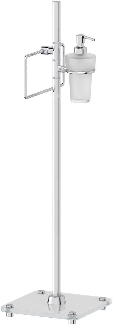 Стойка с 2-мя аксессуарами для туалета с биде FBS Universal, 80 см, цвет: хром. UNI 308UNI 308Аксессуары торговой марки FBS производятся на заводе ELLUX Gluck s.r.o., имеющем 20-летний опыт работы. Предприятие расположено в Злинском крае, исторически знаменитом своим промышленным потенциалом. Компоненты из всемирно известного богемского хрусталя выгодно дополняют серии аксессуаров. Широкий ассортимент, разнообразие форм, высочайшее качество исполнения и техническое?совершенство продукции отвечают самым высоким требованиям. Продукция FBS представлена на российском рынке уже более 10 лет и за это время успела завоевать заслуженную популярность у покупателей, отдающих предпочтение дорогой и качественной продукции.