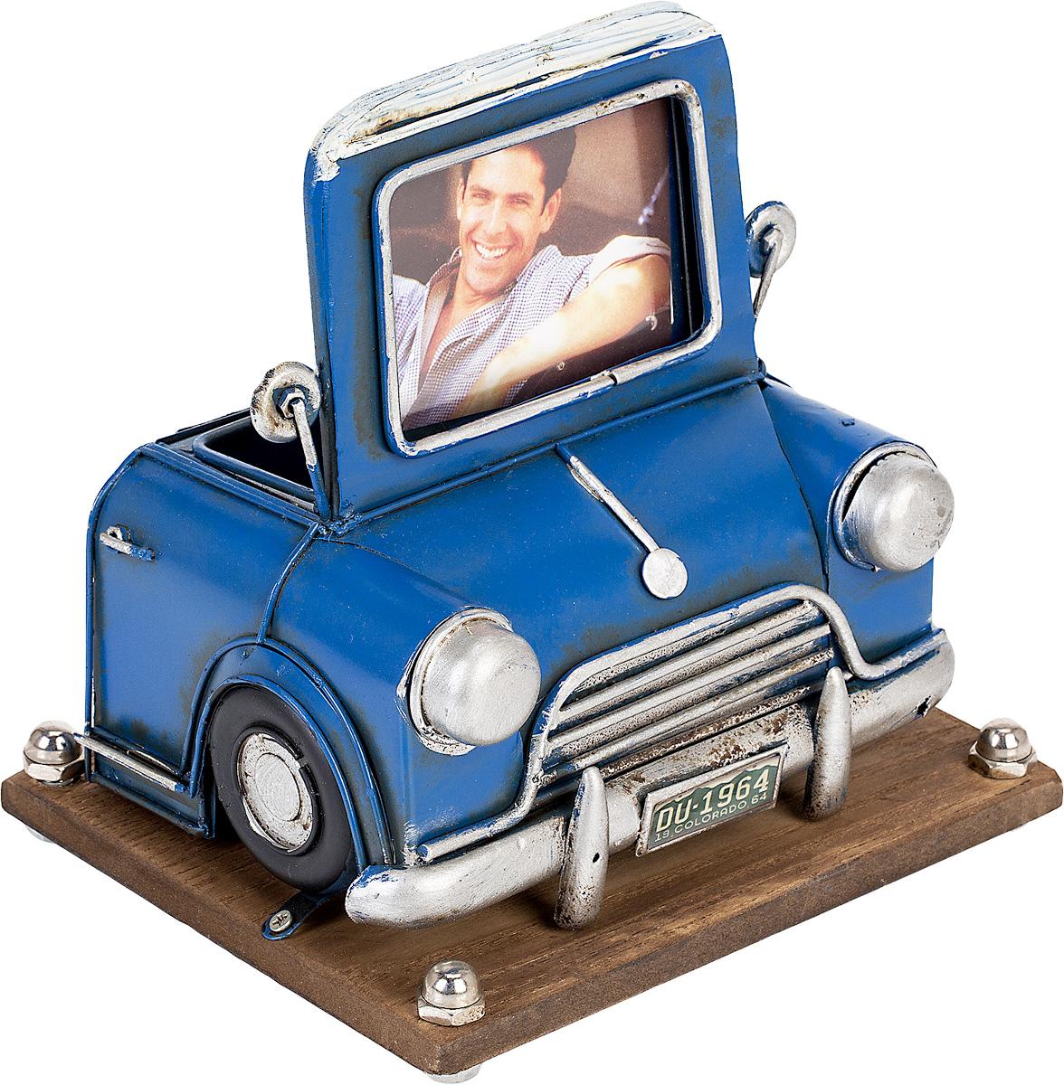 Фоторамка с подставкой для ручек Platinum Автомобиль синий, цвет: синий. 1404B-12901404B-1290