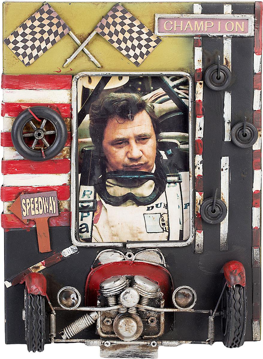 Фоторамка Platinum Гоночный автомобиль, цвет: коричневый. 1404B-13701404B-1370