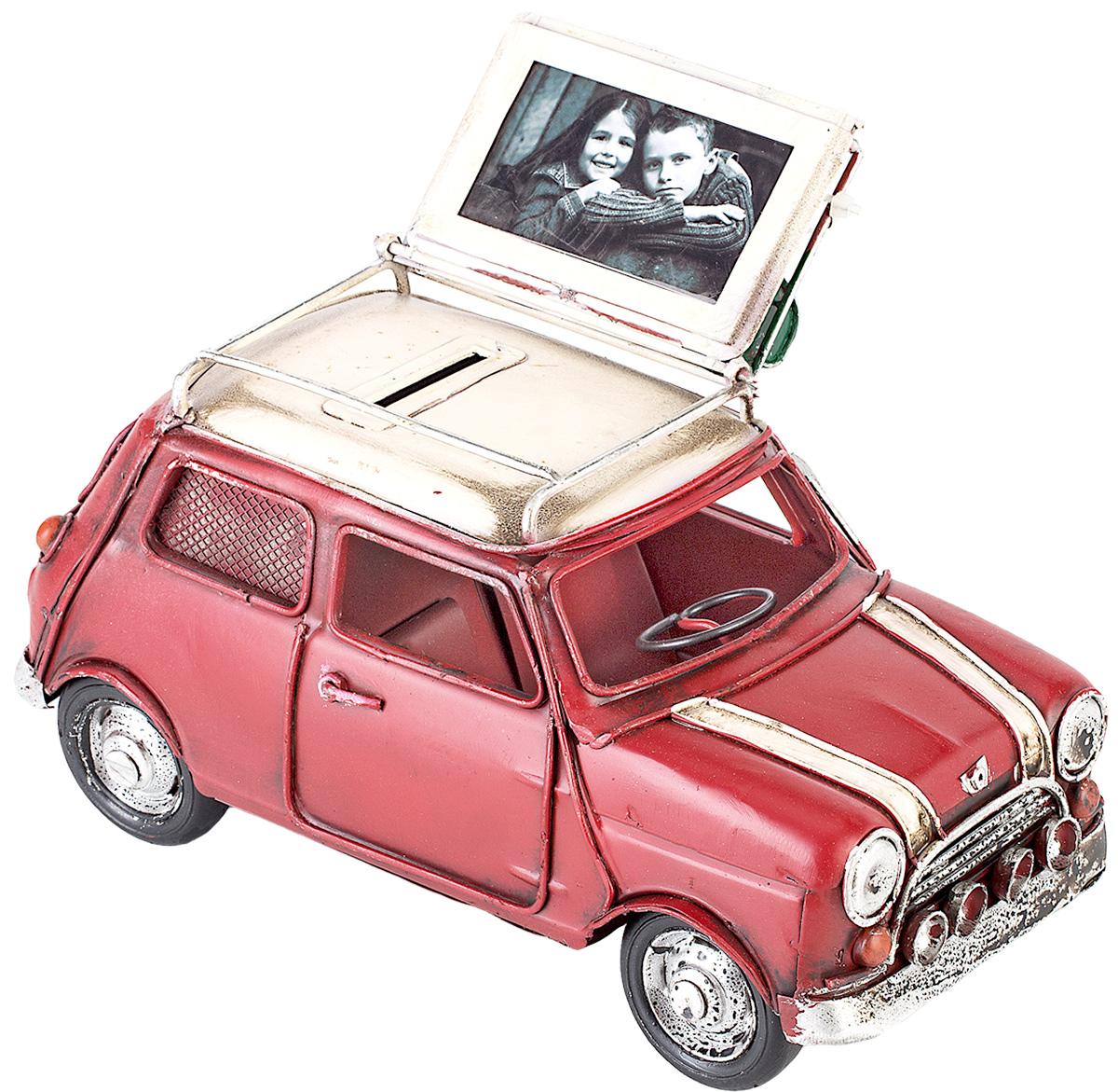 Модель Platinum Автомобиль, с фоторамкой и копилкой. 1404E-43441404E-4344Модель Platinum Автомобиль, выполненная из металла, станет оригинальным украшением интерьера. Вы можете поставить модель ретро- автомобиля в любом месте, где она будет удачно смотреться. Изделие дополнено копилкой и фоторамкой, куда вы можете вставить вашу любимую фотографию. Качество исполнения, точные детали и оригинальный дизайн выделяют эту модель среди ряда подобных. Модель займет достойное место в вашей коллекции, а также приятно удивит получателя в качестве стильного сувенира.