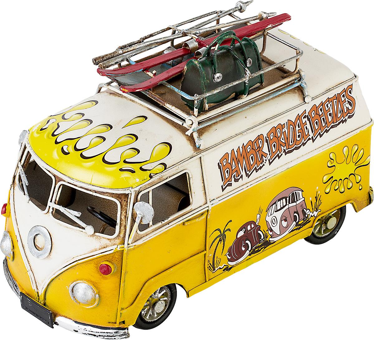 Модель Ретро Platinum Автобус, цвет: желтый с белым, с фоторамкой и подставкой для ручек. 1404E-43561404E-4356