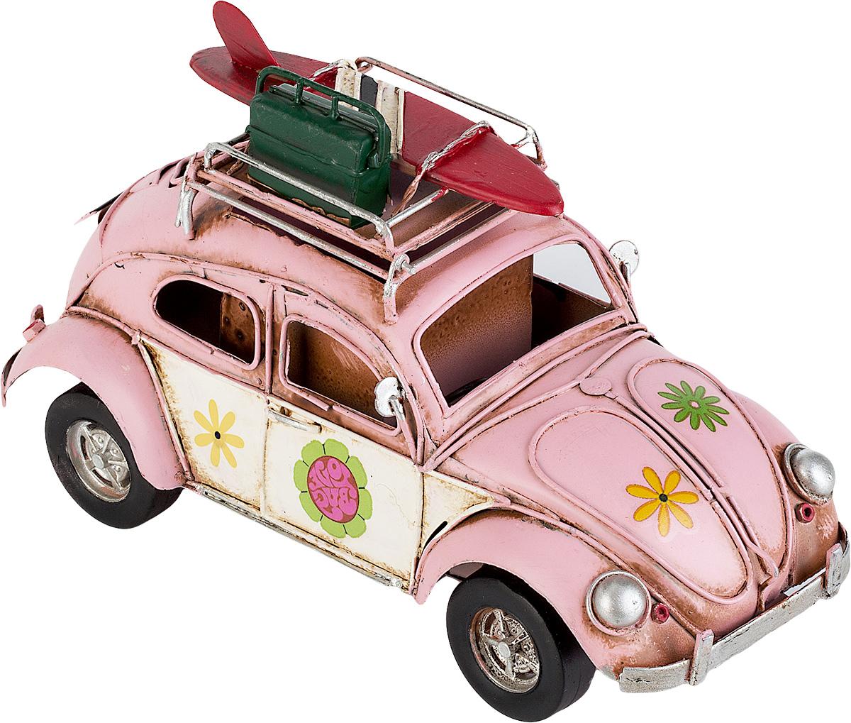 Модель Ретро Platinum Автомобиль, цвет: розовый, с фоторамкой и подставкой для ручек. 1404E-43701404E-4370