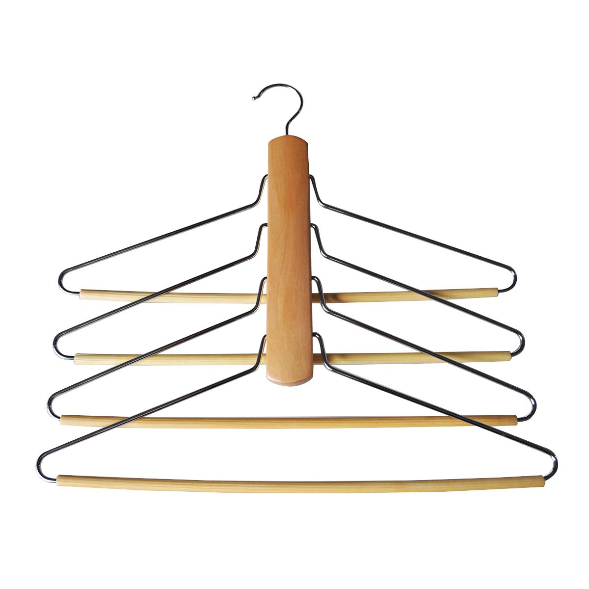 Вешалка HomeQueen, деревянная, с одним крючком для подвешивания, цвет: светло-коричневый, длина 30 см70691