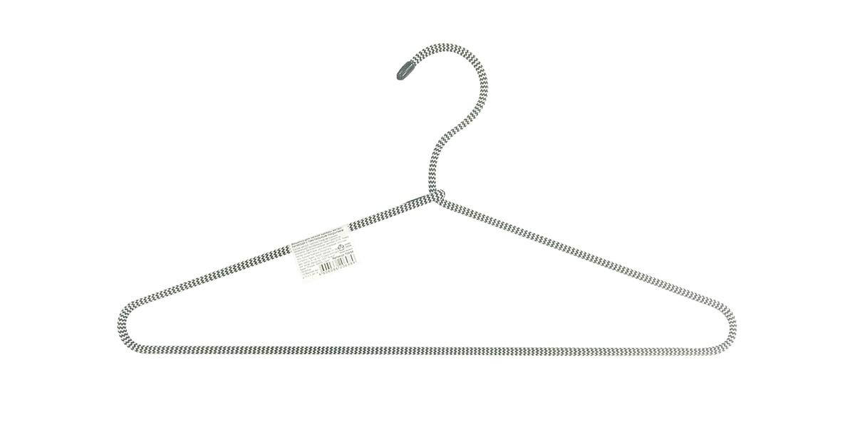 Вешалка HomeQueen, металлическая, с текстильным покрытием, цвет: серый, длина 40,5 см70698
