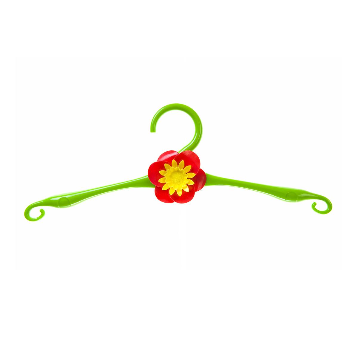 Вешалка HomeQueen, пластиковая, цвет: зеленый, длина 41 см70701