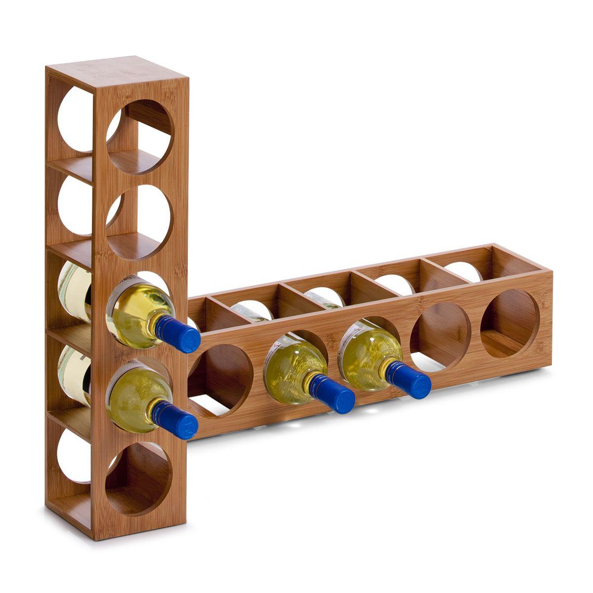 Подставка для бутылок Zeller, 13,5 х 12,5 х 53 см13Подставка для бутылок Zeller служит для размещения 5 винных или пивных бутылок. Изготовлена подставка из высококачественной древесины. Устойчивая форма, удобство, надежная конструкция - все это делает подставку надежным и практичным аксессуаром. Кроме того, такая подставка стильно дополнит кухонный интерьер. Диаметр отверстия для бутылки: 9 см.