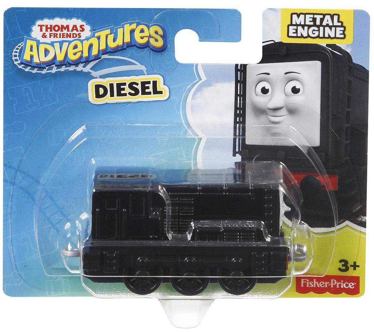 Thomas & Friends Паровозик ДизельDWM28_DXT31Коллекция надежных литых поездов Томас и его друзья с пластиковыми креплениями, чтобы соединять с другими поездами или тендерами из серии Приключения Томаса и его друзей. Идеально для использования с поездами, трассами и наборами Приключения Томаса и его друзей (продаются отдельно, наличие не гарантировано). Помогает развивать крупную моторику и восприятие, развивает воображение.