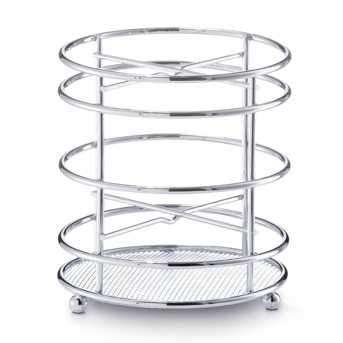 Подставка для кухонных принадлежностей Zeller, высота 13 см24868Подставка Zeller предназначена для удобного хранения и перемещения кухонных принадлежностей. Подставка выполнена из высококачественного металла. Каждая хозяйка знает, что подставка для кухонных принадлежностей - это незаменимый и очень полезный аксессуар на кухне. Диаметр подставки (по верхнему краю): 12 см. Высота подставки: 13 см.