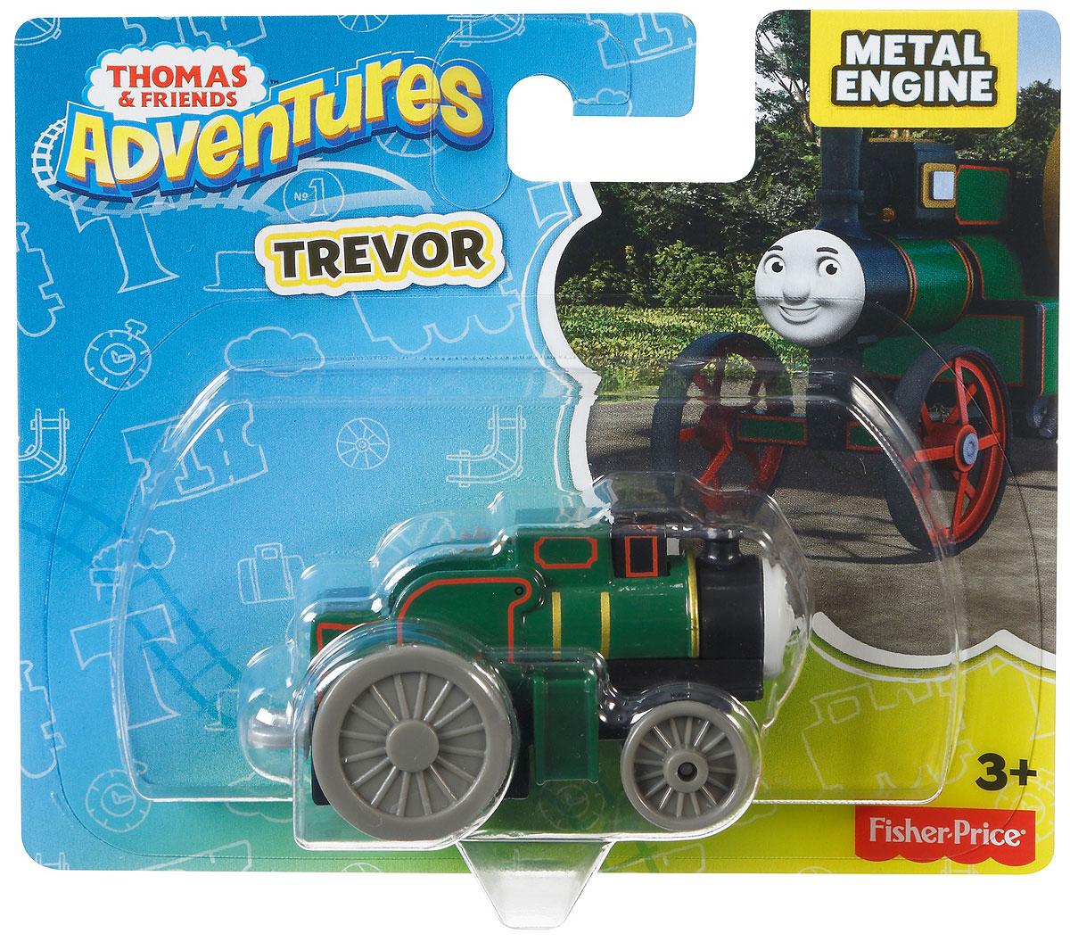 Thomas & Friends Паровозик ТреворDWM28_DXR90Коллекция надежных литых поездов Томас и его друзья с пластиковыми креплениями, чтобы соединять с другими поездами или тендерами из серии Приключения Томаса и его друзей. Идеально для использования с поездами, трассами и наборами Приключения Томаса и его друзей (продаются отдельно, наличие не гарантировано). Помогает развивать крупную моторику и восприятие, развивает воображение.