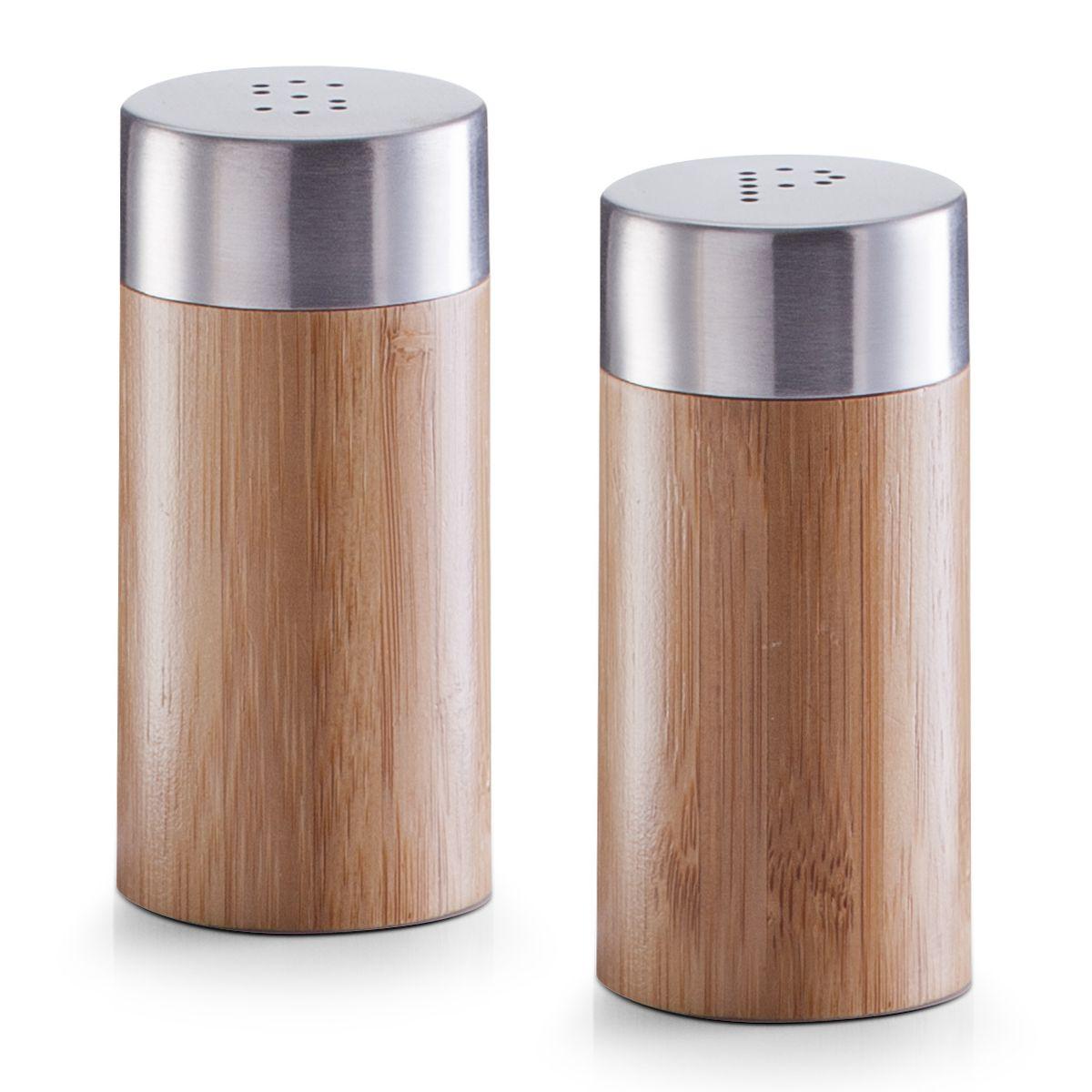 Набор емкостей для специй Zeller, 2 шт25306Набор Zeller состоит из двух емкостей, изготовленных из дерева, которые предназначены для специй и соли. Изделия оснащены откручивающимися металлическими крышками с отверстиями. Стильная форма этих емкостей привлекает внимание и будет уместна на любой кухне. Диаметр емкости: 4 см. Высота емкости: 8,3 см.