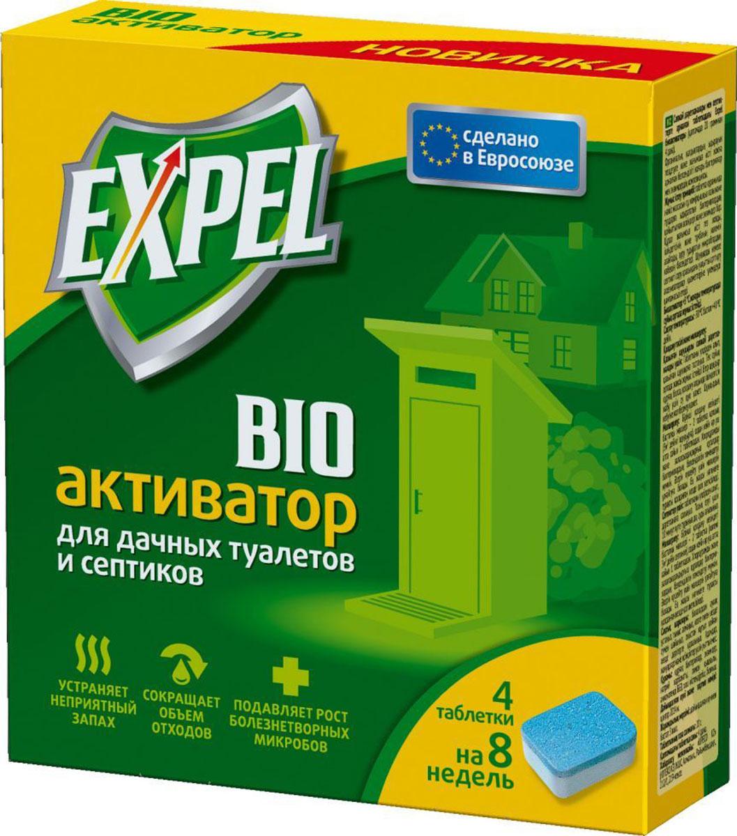 Биоактиватор Expel для дачных туалетов и септиков, 4 таблеткиTT0003Биоактиватор Expel содержит концентрированные культуры бактерий. Которые разлагают фекальные массы на воду, углекислый газ и соли. Средство устраняет неприятный запах, уменьшает объем содержимого и осадка, подавляет рост болезнетворных микробов. Увеличение интервалов между откачками ямы или септика обеспечивает экономию на услугах ассенизатозоров. Способ применения: Для дачных туалетов с выгребной ямой: извлечь таблетку из пленки и бросить в выгребную яму. Биоактиватор эффективно работает только в жидкой среде. Если яма обезвожена, необходимо добавить воды для покрытия содержимого. Не допускать высыхания ямы. Для септиков: извлечь таблетку из пленки и бросить в унитаз. Подождать 10 минут для полного растворения и спустить воду. Дозировка: стартовая доза при первом применении - 2 таблетки (на яму или септик до 3 м3), затем по 1 таблетке каждые 2 недели.