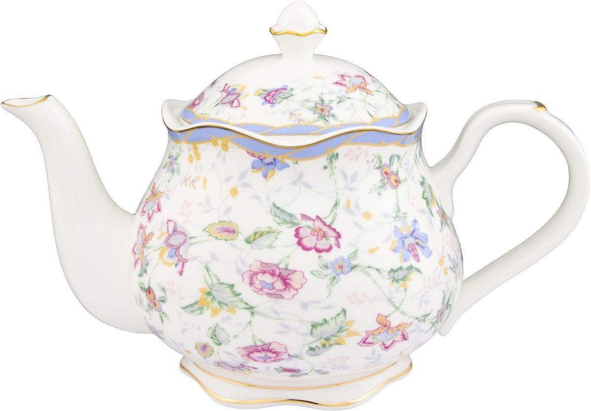Чайник Elan Gallery Цветочный каприз, 1,1 л530052Изящный вместительный чайник объемом 1,1 л удобной ручкой и широким носиком.В основании носика сделаны фильтрующие отверстия от попадания чаинок в чашку. Изделие имеет подарочную упаковку.