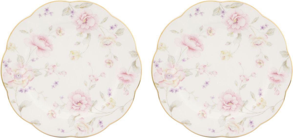 Набор тарелок для десертов Elan Gallery Жизель, 20 х 20 х 1,5 см, 2 шт530065У Вас намечается небольшое торжество - используйте набор из 2 тарелок для десертов. Они не займут много места на столе. Тарелки из серии Жизель станут украшением Вашего стола. Изделие имеет подарочную упаковку.