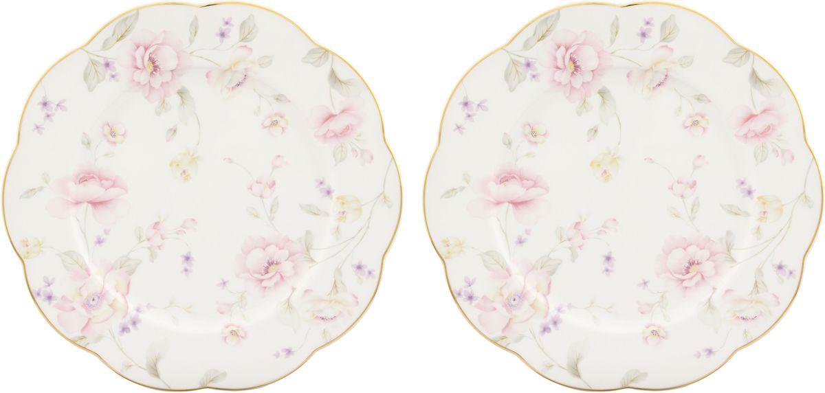 Набор обеденных тарелок Elan Gallery Жизель, 26,5 х 26,5 х 2 см, 2 шт530066У Вас намечается небольшое торжество - используйте набор из 2 обеденных тарелок. Они не займут много места на столе. Тарелки из серии Жизель станут украшением Вашего стола. Изделие имеет подарочную упаковку.