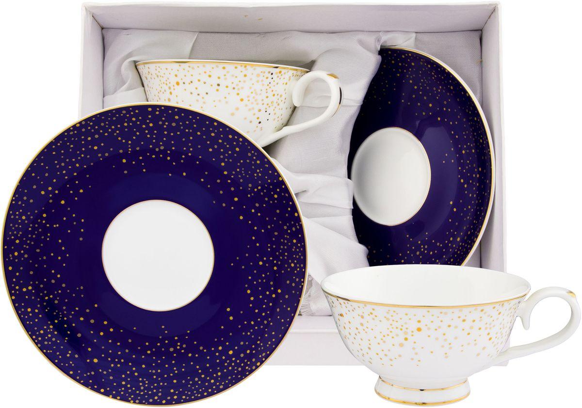Чайный набор Elan Gallery День и ночь, 4 предмета530081Чайный набор на 2 персоны украсит Ваше чаепитие. В комплекте 2 чашки, 2 блюдца. Изделие имеет подарочную упаковку, поэтому станет желанным подарком для Ваших близких! Объем чашки 220 мл.
