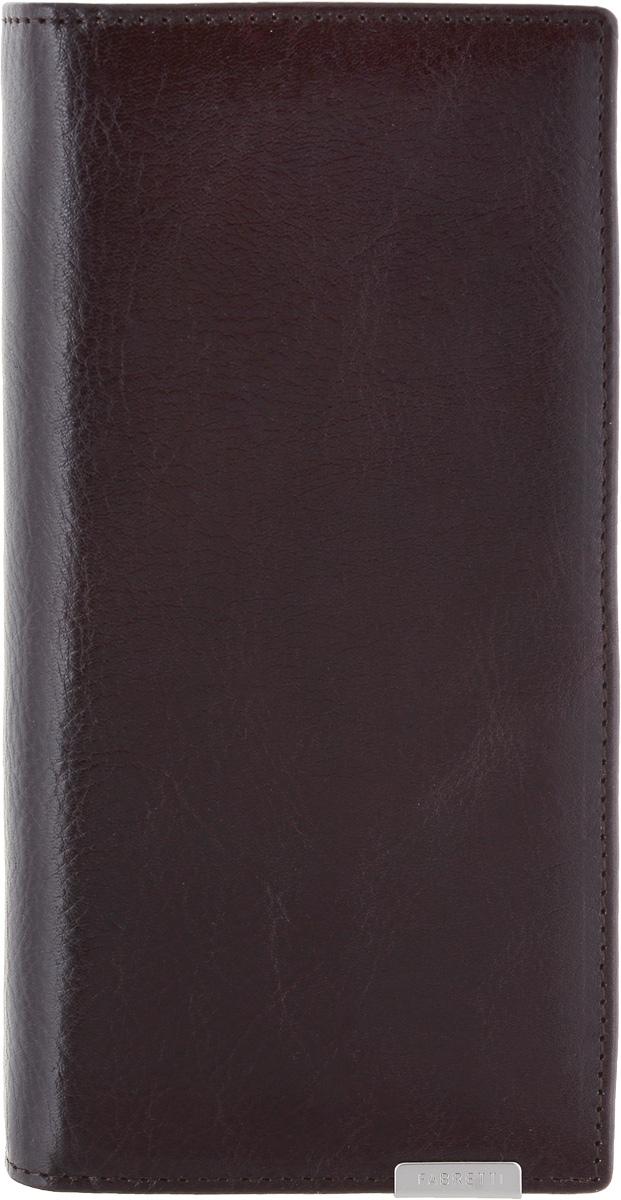 Кошелек мужской Fabretti, цвет: коричневый. 70341-brown70341-brownМужской кошелек от итальянского бренда Fabretti выполнен из натуральной кожи, которая имеет мягкую и гладкую фактуру. Утонченный темно-коричневый цвет и изысканная фурнитура под серебро подчеркнут ваш элегантный стиль. Кошелек раскладывается пополам. Внутри изделия находятся два отделения для купюр, отделение для мелочи на застежке-молнии, три плоских горизонтальных кармана и семь отделений для визитных и кредитных карточек.