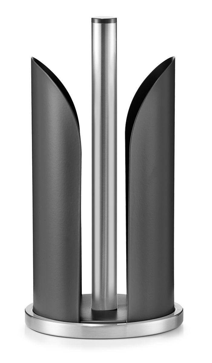 Держатель для бумажных полотенец Zeller, цвет: черный, стальной, высота 30,5 см27217Держатель для бумажных полотенец Zeller изготовлен из высококачественного металла. Круглое основание держателя гарантирует устойчивость. Рулоны накладываются сверху. Вы можете установить его в любом удобном месте. Такой держатель станет полезным аксессуаром в домашнем быту и идеально впишется в интерьер современной кухни. Рулон в комплект не входит. Высота держателя: 30,5 см. Диаметр основания: 15 см.
