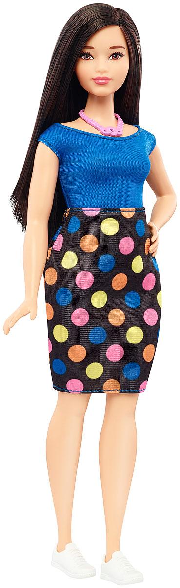 Barbie Кукла Fashionistas Polka Dot FunFBR37_DVX73Великолепная кукла Barbie Fashionistas порадует вашу малышку и доставит ей много удовольствия от часов, посвященных игре с ней. Барби готова сразить всех наповал своей ослепительной красотой! Кукла с объемными формами и темными волосами смотрится очень стильно. На куколке оригинальное платье с синим верхом и черным низом в яркий горошек. У платья вырез-лодочка и короткие рукава. На ножках известной модницы одеты белые спортивные ботиночки. Завершает стильный образ модное розовое колье на шее Барби. Порадуйте свою малышку таким великолепным подарком! Каждая кукла Barbie Fashionistas уникальна. Собери их всех!