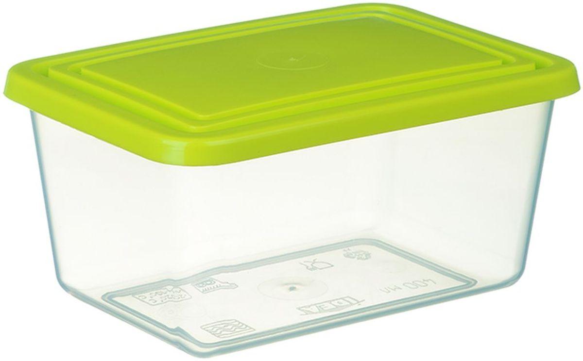 Емкость для продуктов Idea, цвет: прозрачный, салатовый, 3 лМ 1454Прямоугольная емкость для продуктов Idea изготовлена из пищевого полипропилена. Крышка из эластичного материала плотно закрывается, дольше сохраняя продукты свежими. Боковые стенки прозрачные, что позволяет видеть содержимое. Емкость идеально подходит для хранения пищи, фруктов, ягод, овощей. В ней также можно хранить разнообразные сыпучие продукты. Такая емкость пригодится в любом хозяйстве.