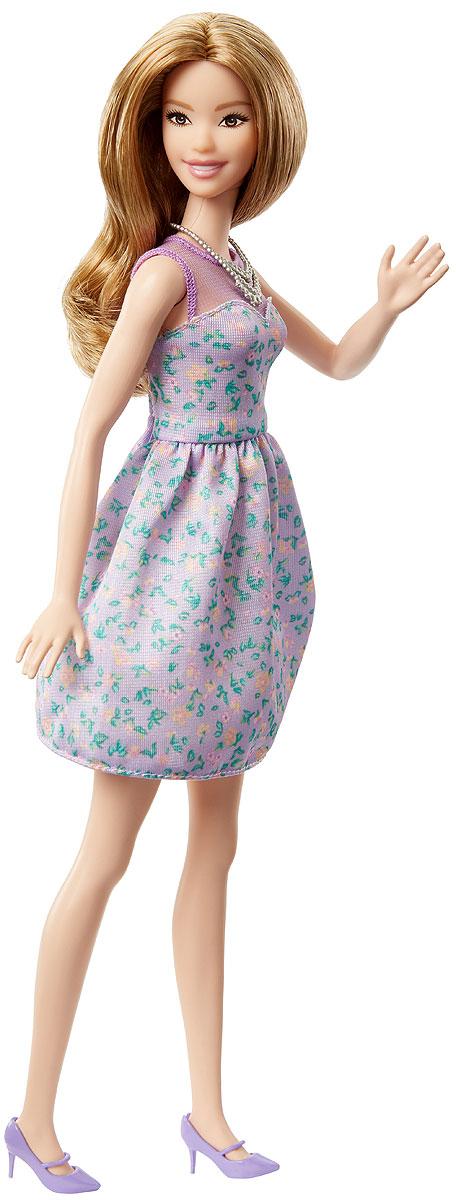 Barbie Кукла Игра с модой Lovely in LilacFBR37_DVX75Великолепная кукла Barbie Fashionistas порадует вашу малышку и доставит ей много удовольствия от часов, посвященных игре с ней. Барби готова сразить всех наповал своей ослепительной красотой! У Барби милая улыбка и длинные распущенные волосы. На куколке платье приталенное платье лилового цвета с цветочным принтом. Верх платья декорирован прозрачной вставкой. На ногах - туфельки в тон платью на каблучках. Завершает стильный образ оригинальное колье. В таком наряде можно появиться на модной вечеринке или прогуляться по парку с подругами. Порадуйте свою малышку таким великолепным подарком! Каждая кукла Barbie Fashionistas уникальна. Собери их всех!