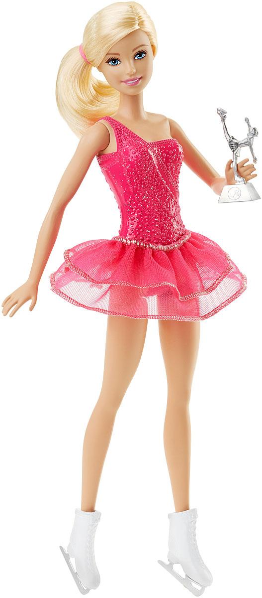Barbie Кукла Кем быть ФигуристкаDVF50_FFR35Следуйте за своей мечтой вместе с куклами Barbie разных профессий! Для Barbie не существует ничего невозможного! Каждая кукла одета в соответствующий профессии костюм. Рассказать ее историю помогут аксессуары: например, стетоскоп у медсестры или поварской колпак и кекс у кондитера. Хотите быть окулистом, ветеринаром или физиком? Попробовать себя в искусстве и стать поп-певицей? Разные типы телосложения, цвета кожи, глаз и волос позволят любой девочке найти что-то общее с куклами. Соберите их всех, ведь с Barbie вы можете стать кем угодно! В комплекте кукла, одежда и аксессуары, а также тематические предметы.