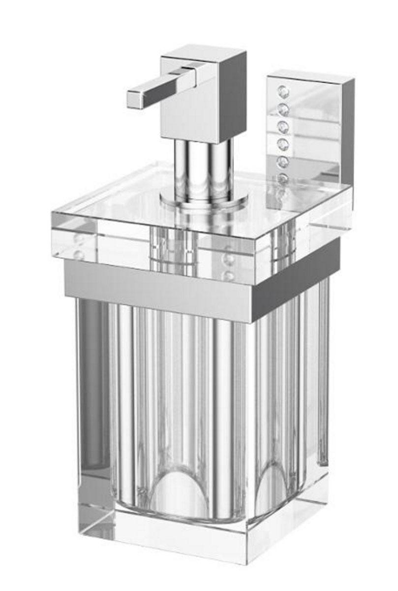 Держатель с емкостью для жидкого мыла Lineag Tiffany Lux, цвет: хром. TIF 906TIF 906В течение 20 лет компания Lineag разрабатывает и производит эксклюзивные аксессуары для ванной комнаты, используя современные технологии и высококачественные материалы. Каждый продукт Lineag произведен исключительно в Италии. Изысканный дизайн аксессуаров Lineag создает уникальную атмосферу уюта и роскоши в вашей ванной.