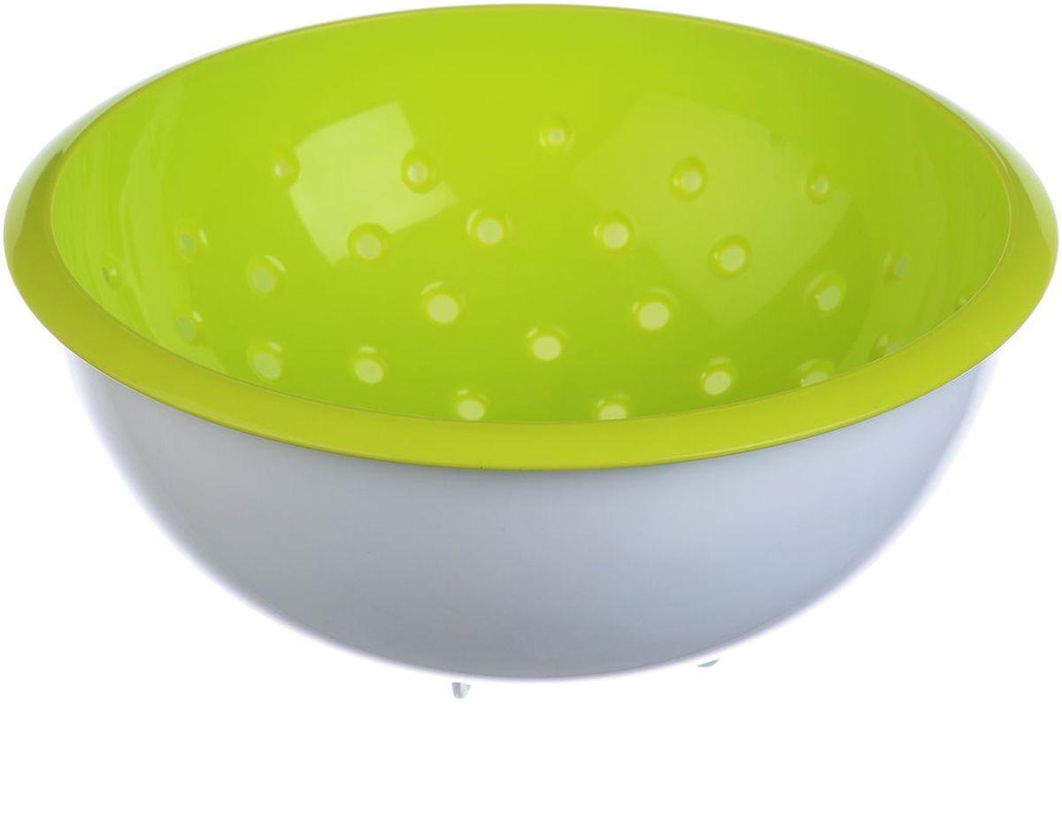 Дуршлаг Idea, с миской, цвет: салатовый, 2 лМ 1134Дуршлаг Idea, изготовленный из пищевого полипропилена, станет полезным приобретением для вашей кухни. Он идеально подходит для процеживания, ополаскивания овощей и фруктов и стекания жидкости. Дуршлаг оснащен устойчивым основанием и миской. Дуршлаг Idea станет незаменимым атрибутом на кухне каждой хозяйки. Диаметр дуршлага (по верхнему краю): 22,5 см. Высота стенок: 9,5 см.