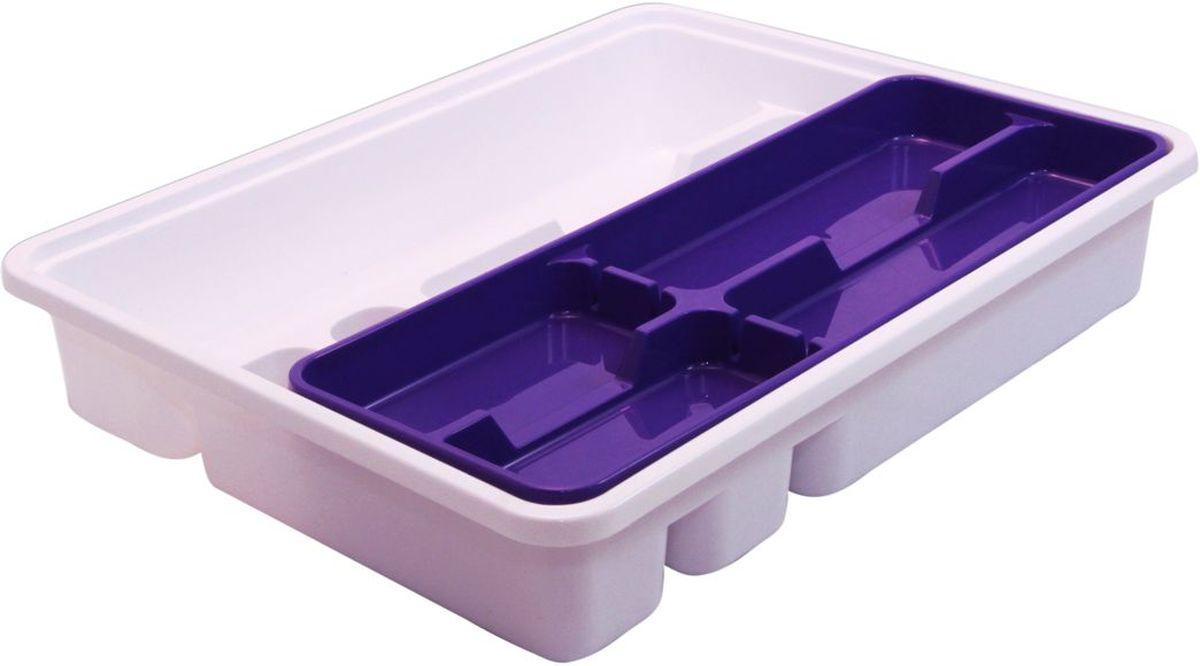 Лоток-вкладыш для столовых приборов Idea, двухуровневый, цвет: фиолетовыйМ 1146