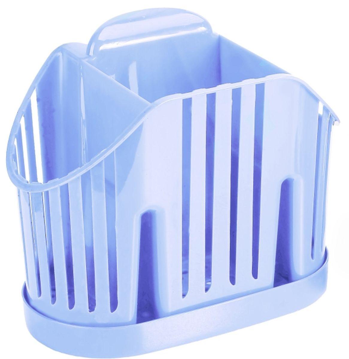 Сушилка для для столовых приборов Idea, 3 секции, цвет: голубойМ 1160