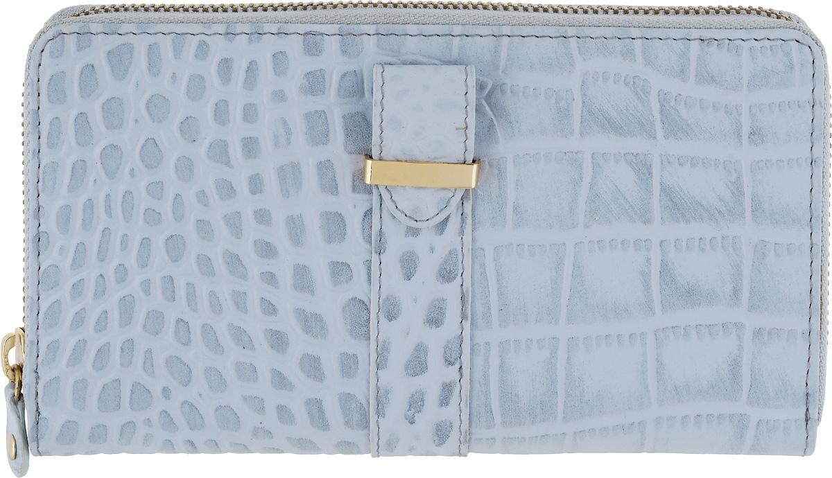 Портмоне женское Bodenschatz, цвет: серо-голубой. 4-297 aqua4-297 aquaЗакрывается на молнию, внутри четыре отдела для купюр, карман для мелочи на молнии, два кармана для документов, двенадцать кармашков для пластиковых карт, сетчатый карман для пропуска, на задней стенке - карман на молнии.
