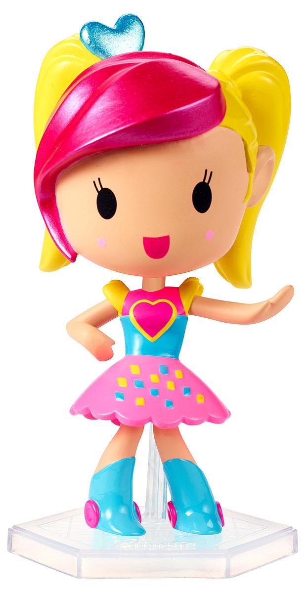 Barbie Мини-кукла Барби Виртуальный мир цвет одежды розовый голубой желтыйDTW13_DTW14Играйте по своим правилам вместе с куклой Barbie! Милая маленькая куколка из виртуального мира готова вступить в игру и победить! Этот персонаж будто пришел к нам из мира игр: яркий разноцветный наряд и небольшой размер делают ее похожим на ожившую картинку. Куколка в голубой кофточке с сердечком, пышной юбочке и высоких голубых сапожках. Индивидуальность этой малышке прибавляет прическа с желтыми хвостиками и розовой челкой. В комплекте с куклой имеется специальная подставка. Вспомните любимую игру или придумайте свои собственные правила! Найдите свою любимицу или соберите их всех!