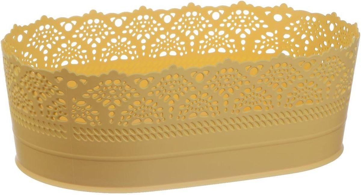 Сухарница Idea Ажур, цвет: желтый, длина 22 смМ 1190Оригинальная сухарница Idea Ажур, выполненная из пластика, послужит приятным и полезным сувениром для близких и знакомых и, несомненно, доставит массу положительных эмоций своему обладателю. Длина: 22 см.