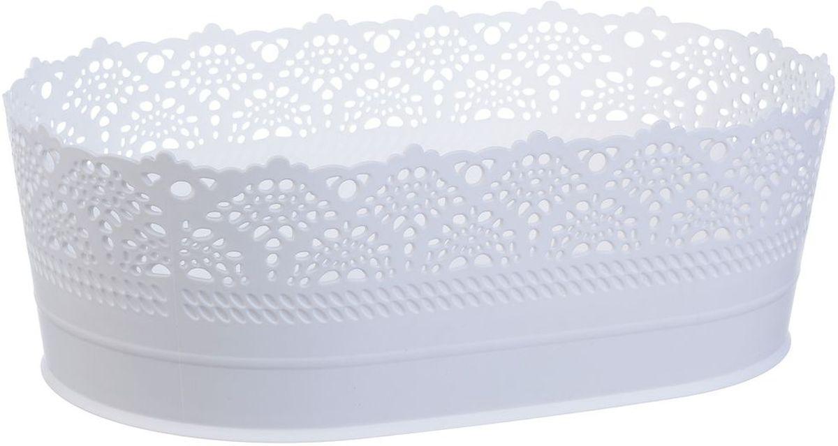 Сухарница Idea Ажур, цвет: белый, длина 22 смМ 1190Оригинальная сухарница Idea Ажур, выполненная из пластика, послужит приятным и полезным сувениром для близких и знакомых и, несомненно, доставит массу положительных эмоций своему обладателю. Длина: 22 см.