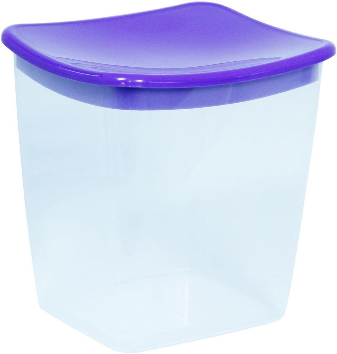 Емкость для сыпучих продуктов Idea, квадратная, цвет: фиолетовый, 1 лМ 1223Емкость Idea выполнена из пищевого полипропилена и предназначена для хранения сыпучих продуктов. Не содержит Бисфенол A. Изделие оснащено плотно закрывающейся крышкой, благодаря которой продукты дольше остаются свежими.
