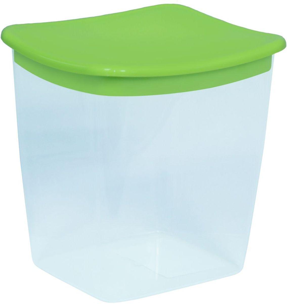Емкость для сыпучих продуктов Idea, квадратная, цвет: салатовый, 1 лМ 1223