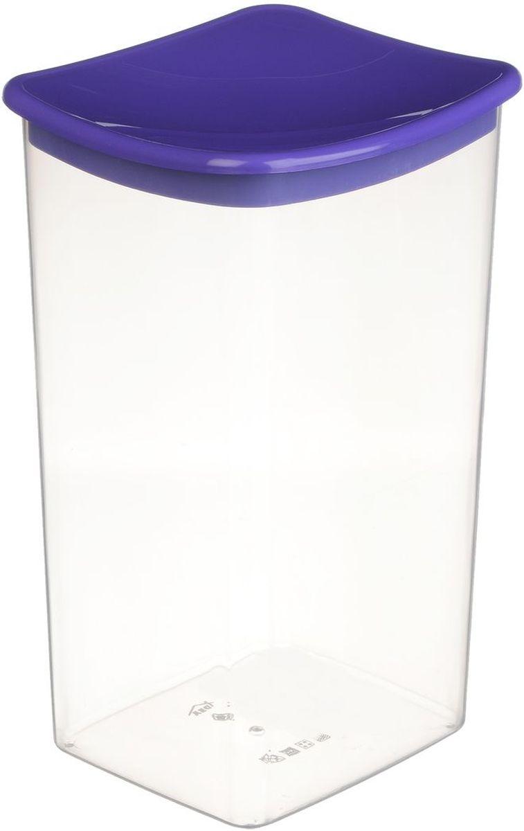 Емкость для сыпучих продуктов Idea, квадратная, цвет: фиолетовый, 1,9 лМ 1224