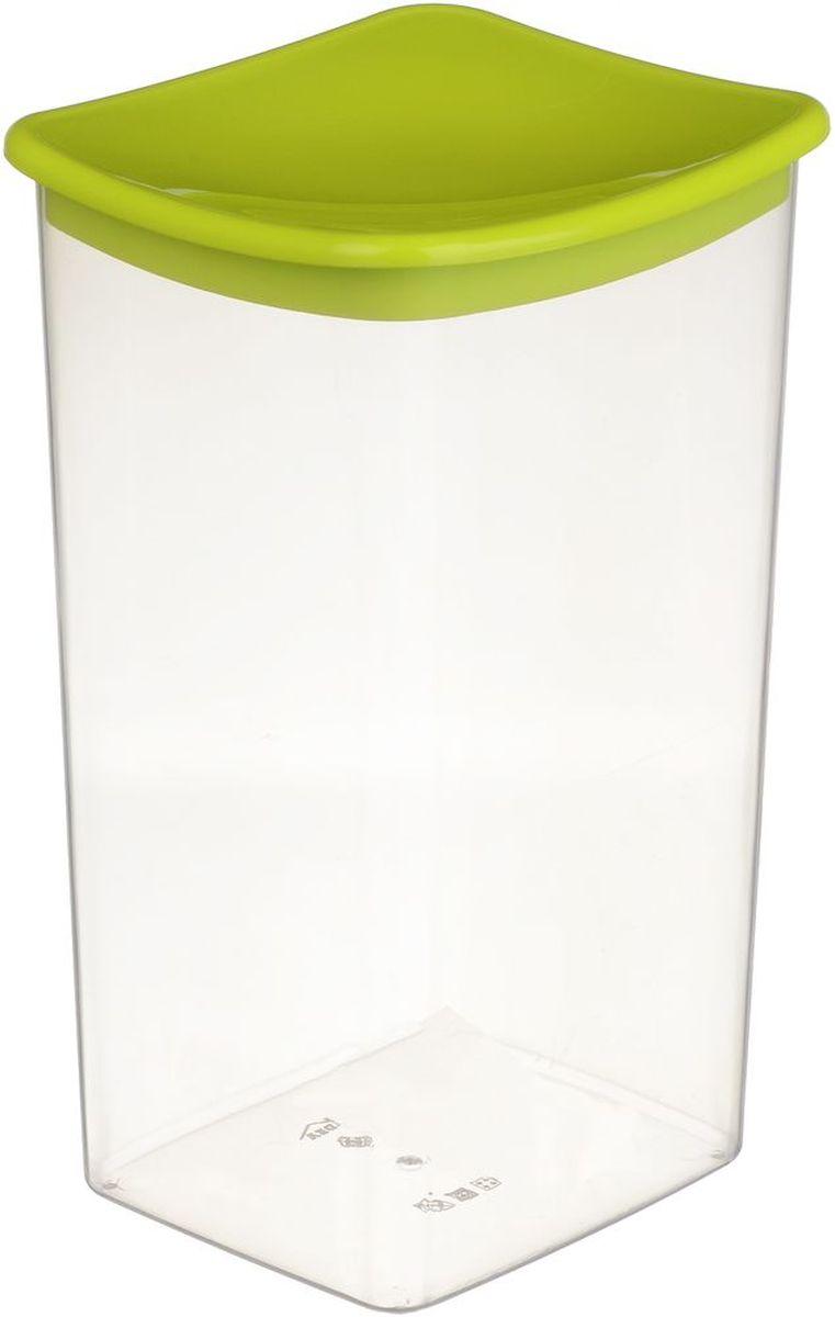 Емкость для сыпучих продуктов Idea, квадратная, цвет: салатовый, 1,9 лМ 1224
