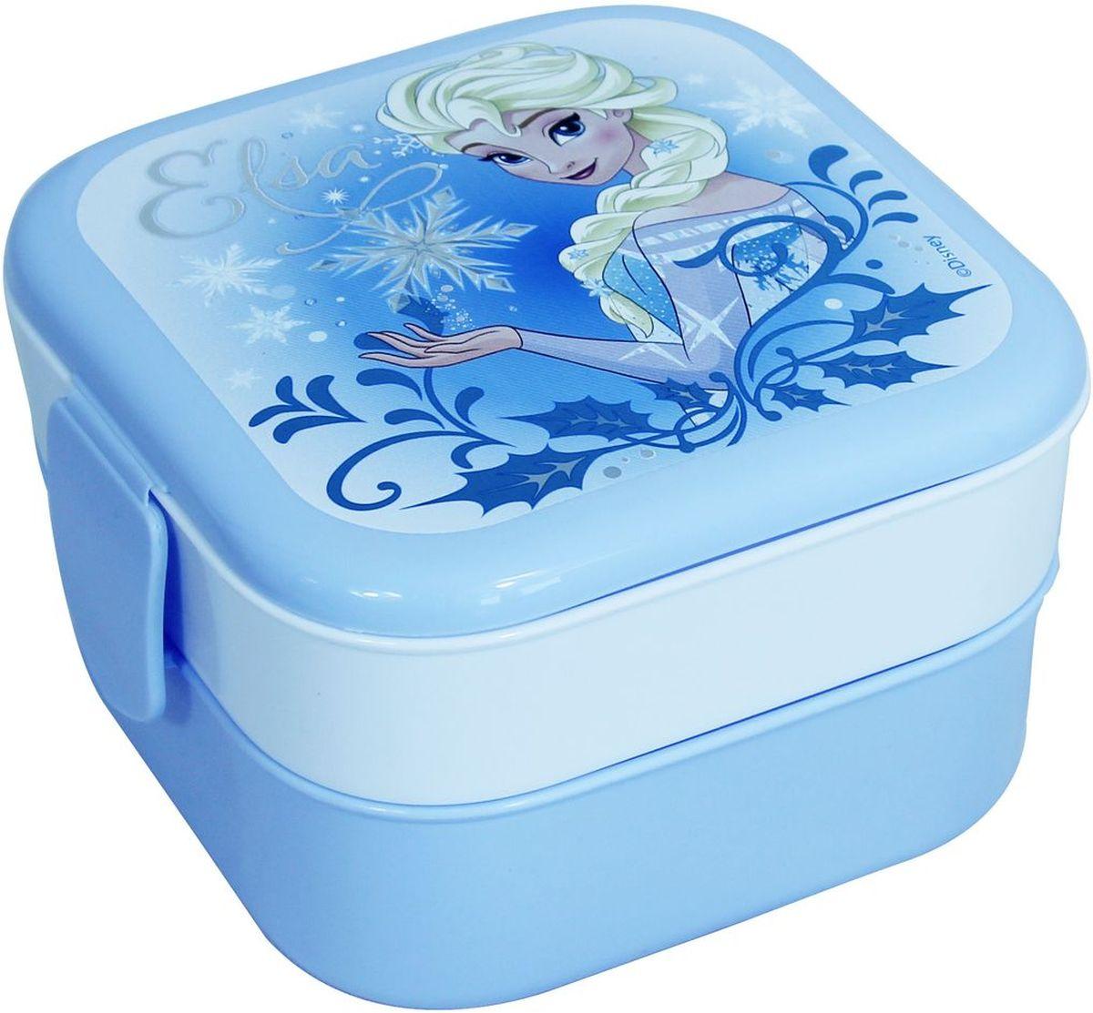 Контейнер Idea Disney. Холодное сердце, 2 секции, цвет: голубойМ 1232-Д