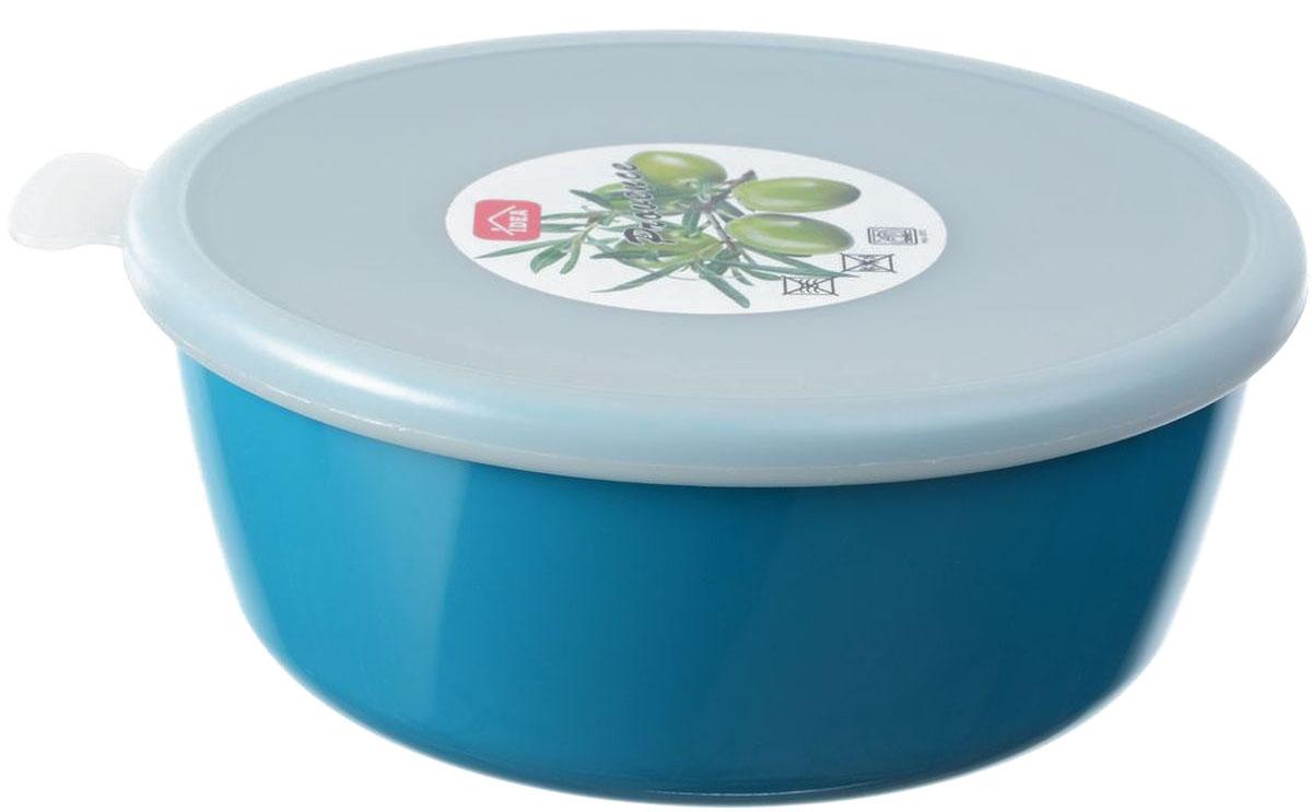 Миска Idea Прованс, с крышкой, цвет: бирюзовый, 1 лМ 1381