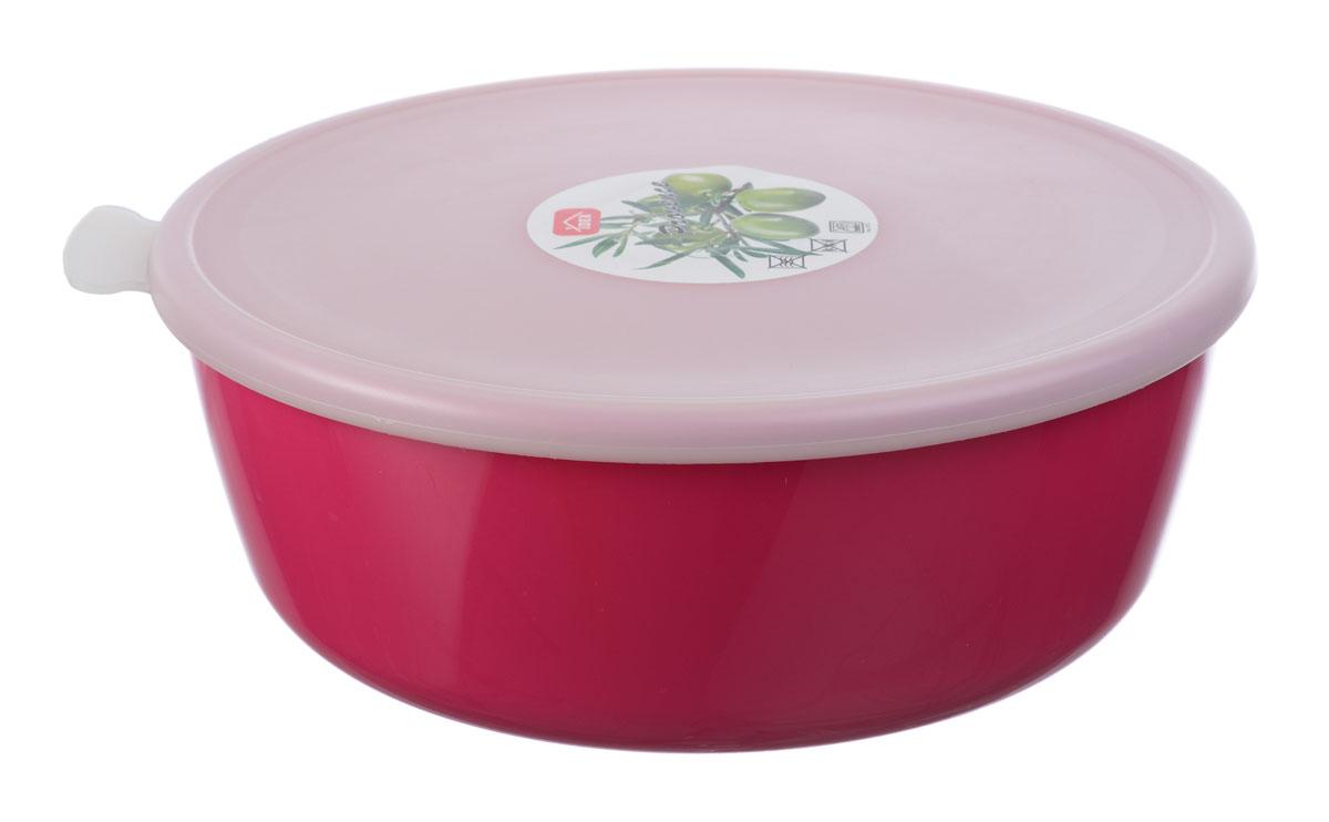 Миска Idea Прованс, с крышкой, цвет: малиновый, 2,5 лМ 1382
