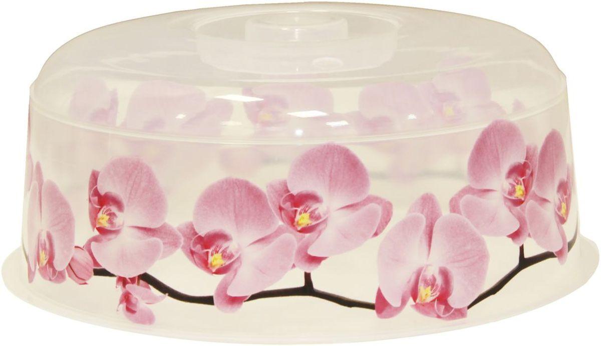 Крышка для СВЧ Idea Деко. Орхидея, диаметр 24,5 смМ 1416